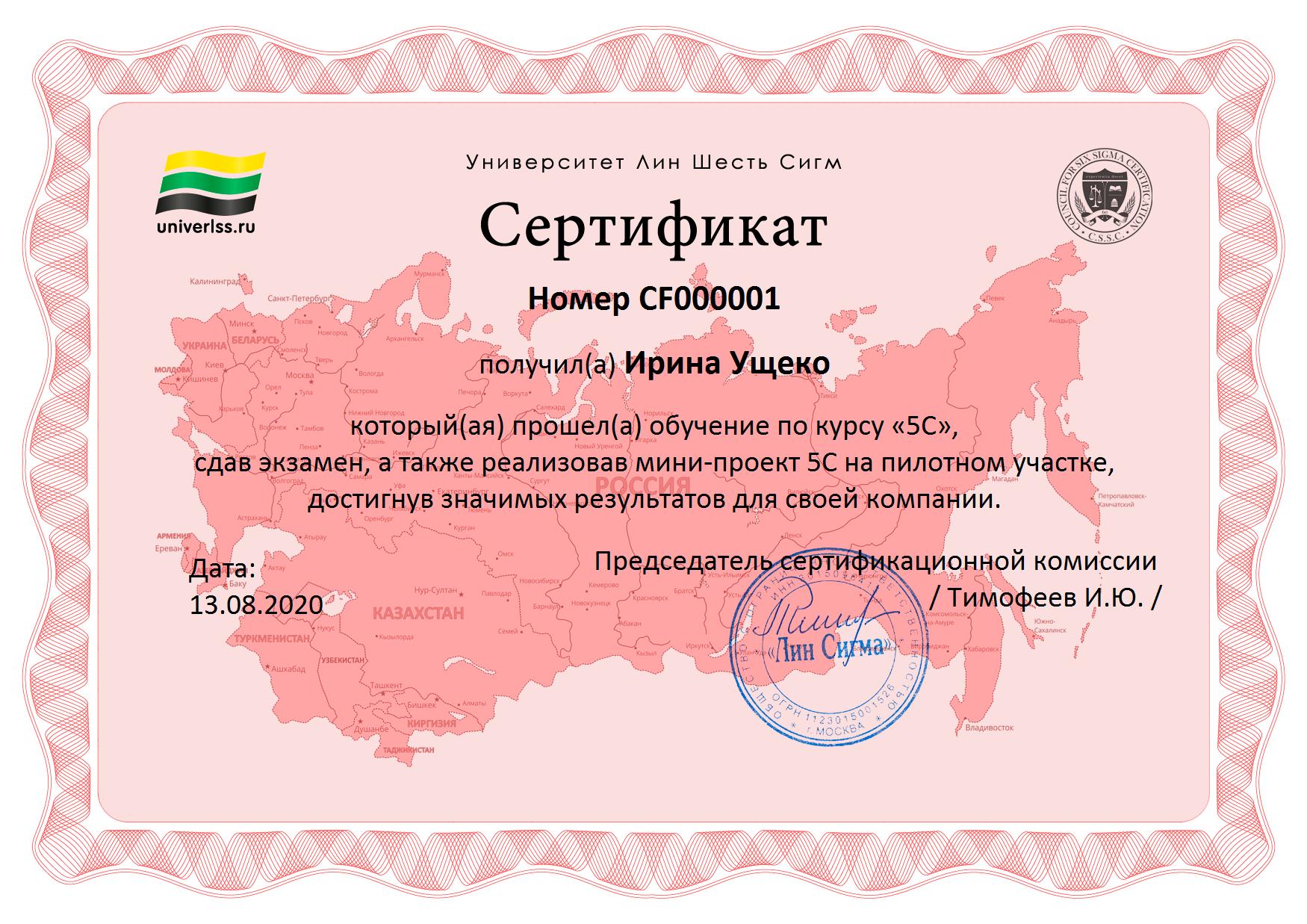 Сертификат 5C_пример